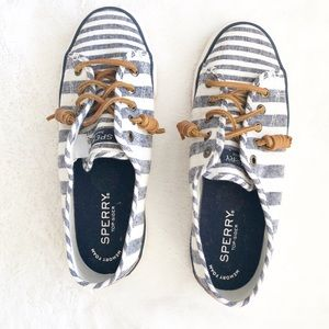 Speedy women's shoes size 6 white and blue striped